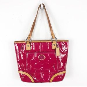 Coach Peyton Embossed Pink Patent Leather
